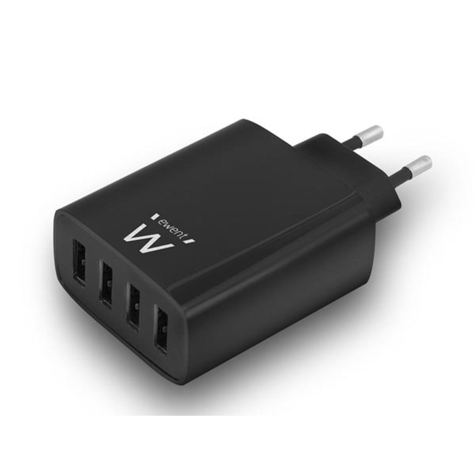 Velleman Compacte USB lader 5V 5.4A - 4 poorten