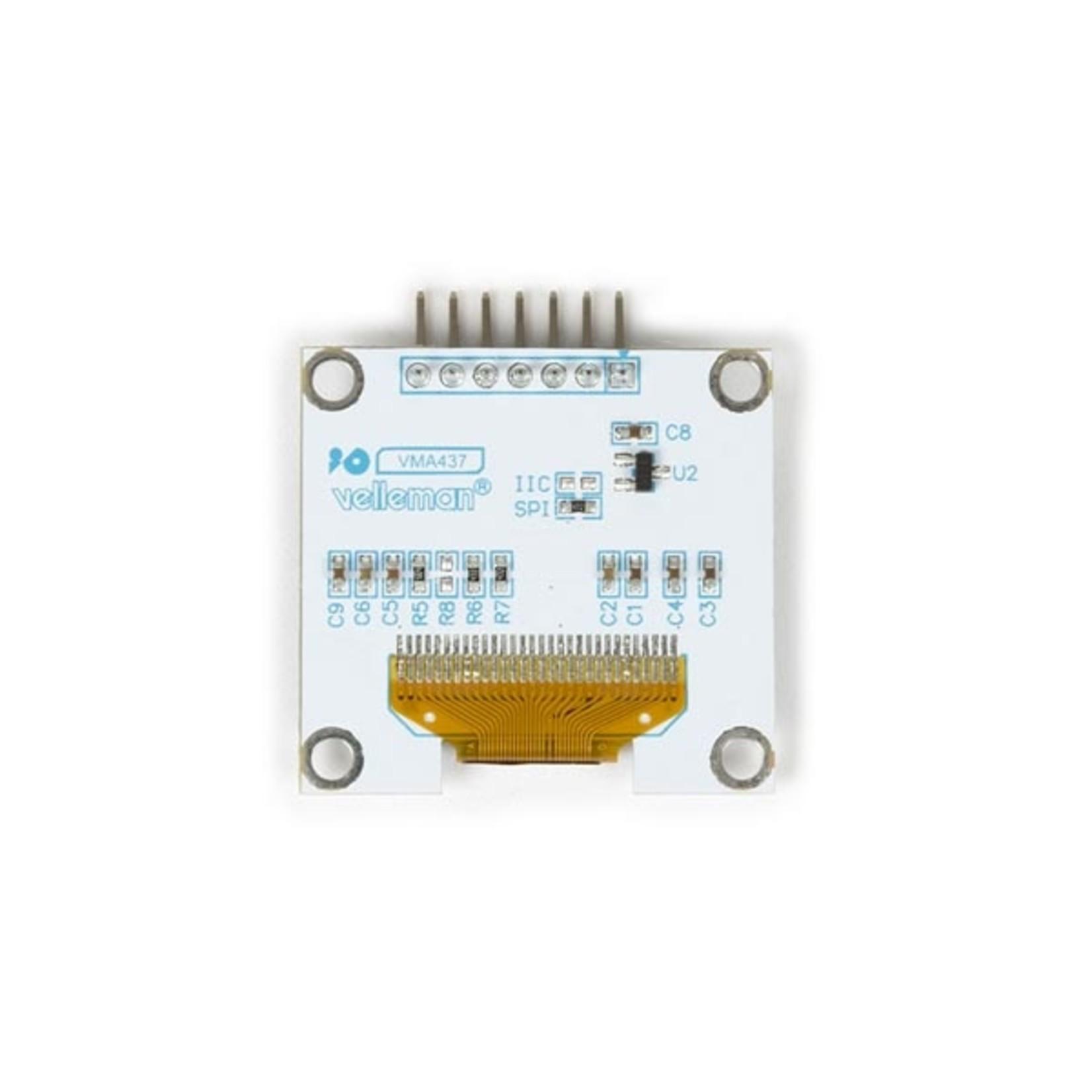 "Velleman 1.3"" oled scherm for Arduino® (SH1106 driver, SPI)"
