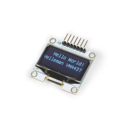 Velleman 1.3 INCH OLED SCREEN FOR ARDUINO® (SH1106 DRIVER, SPI)
