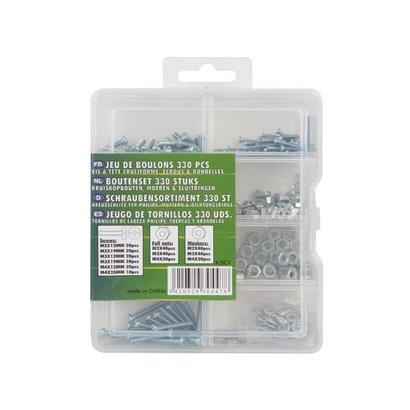 Velleman ENSEMBLE VISSERIE 330 PCS (VIS PHILIPS, ECROUS & RONDELLES)