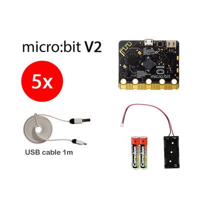 BBC micro:bit Micro:bit V2 Starter 5-pack