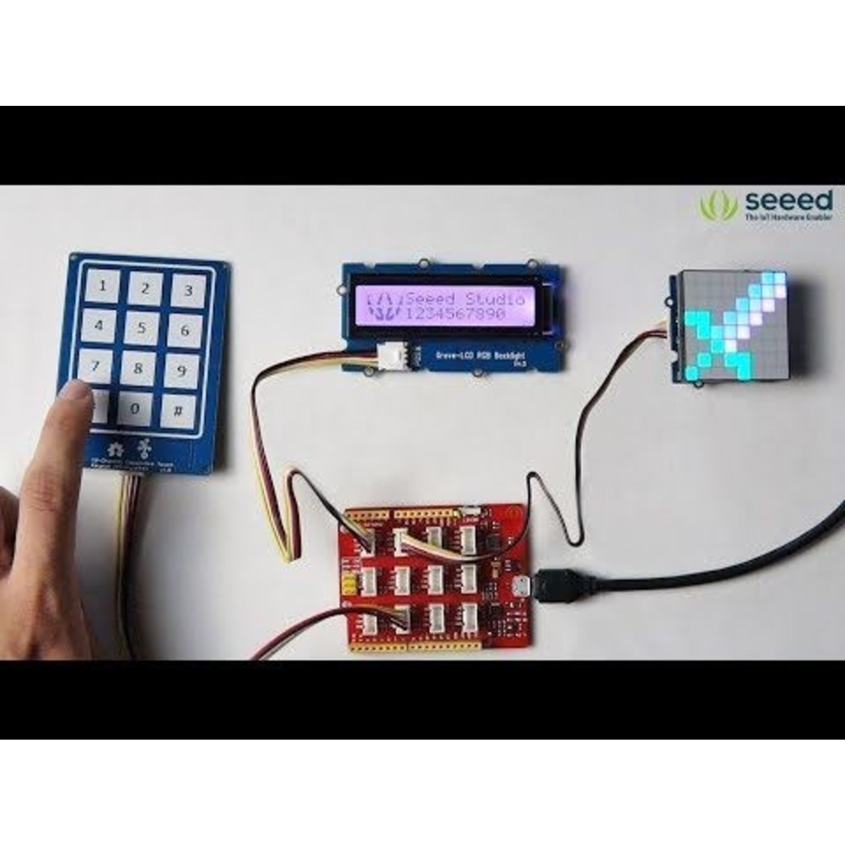 Seeed Grove - 12-Channel Capacitive Touch Keypad (ATtiny1616)