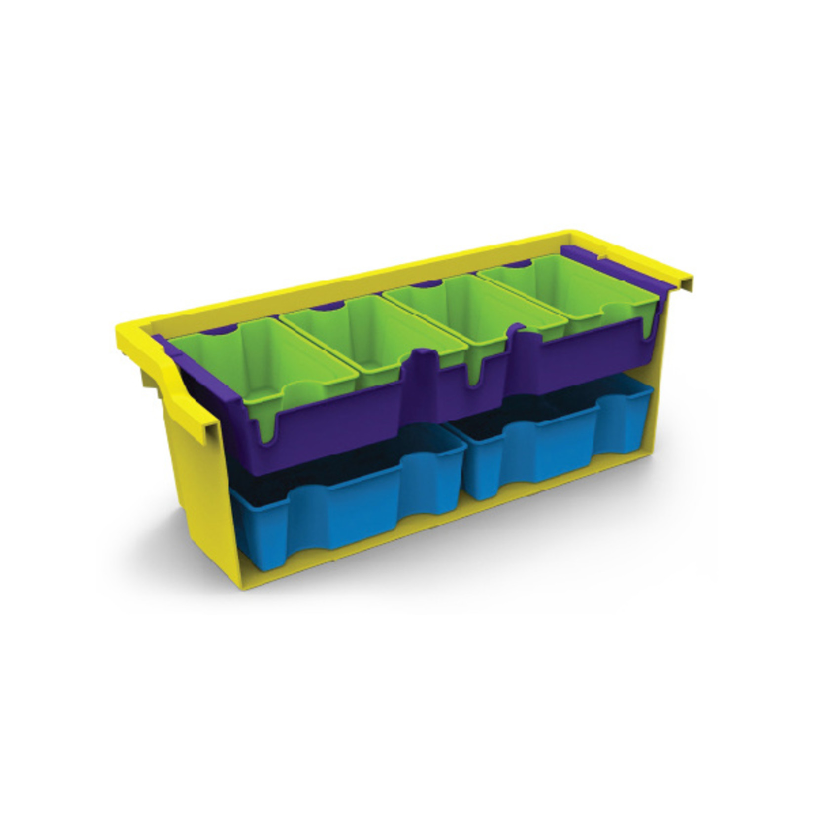 Gratnells Small SortED insert jolly lime antimicrobial