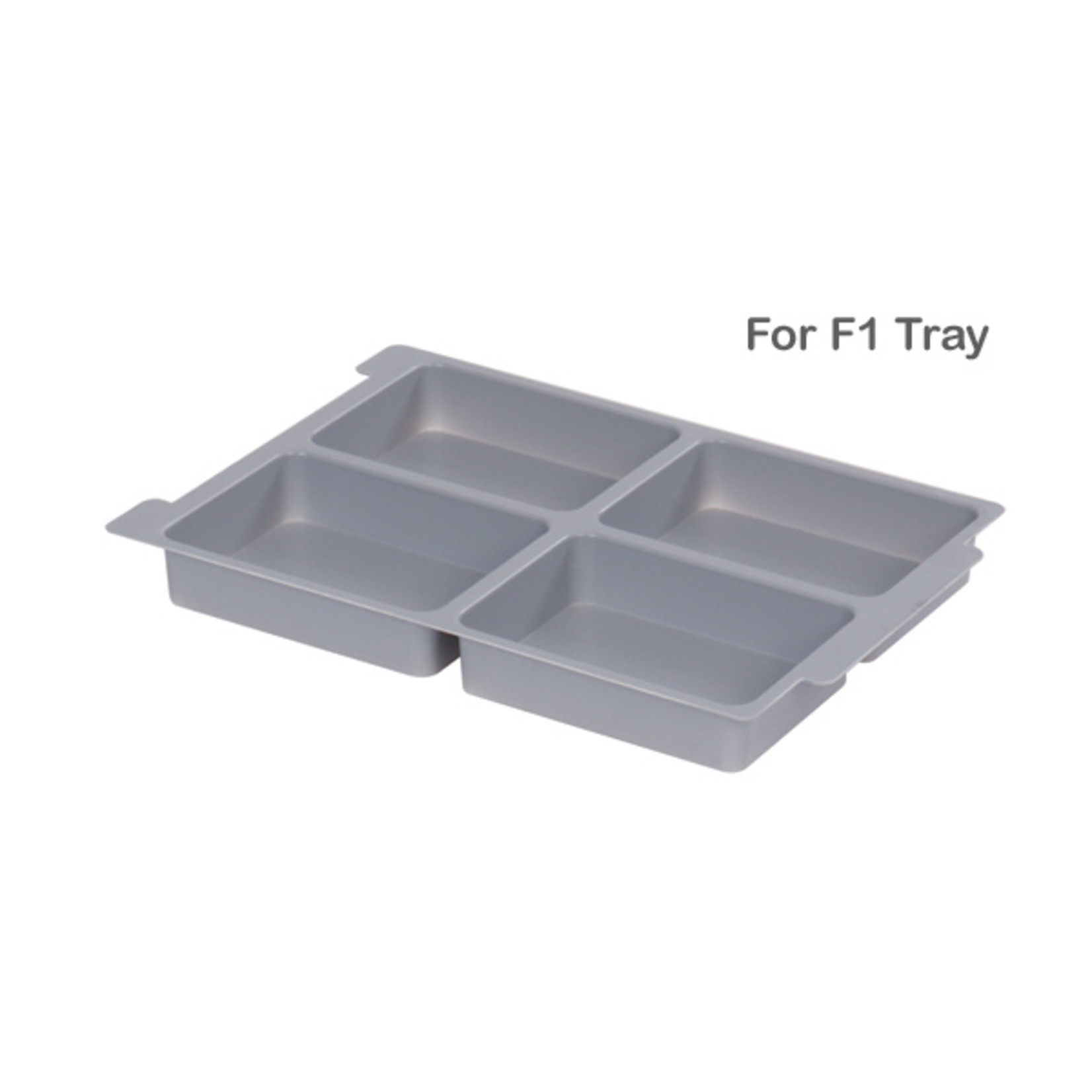 Gratnells Moulded Insert 4 Section for F1 in Dove Grey