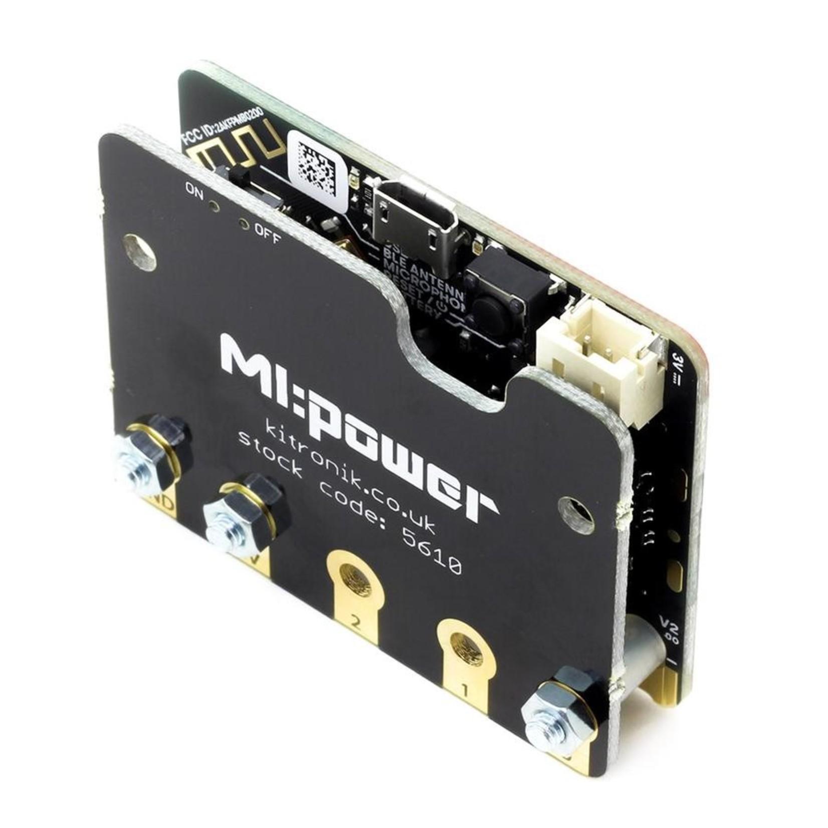 Kitronik MI:power board for the BBC micro:bit V2