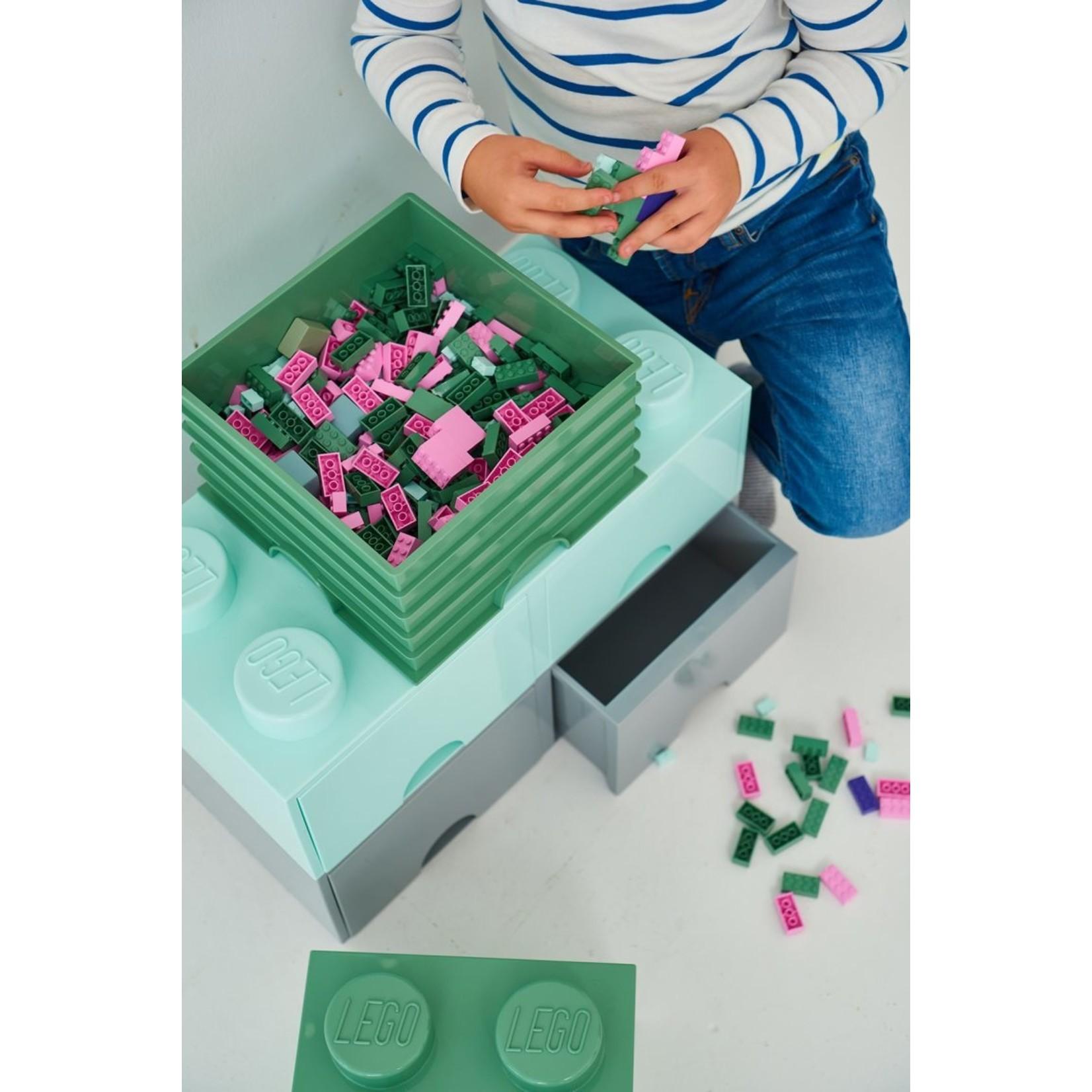 Opbergbox LEGO brick 2x2 groen