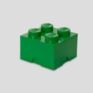 Storage box LEGO brick 2x2 green