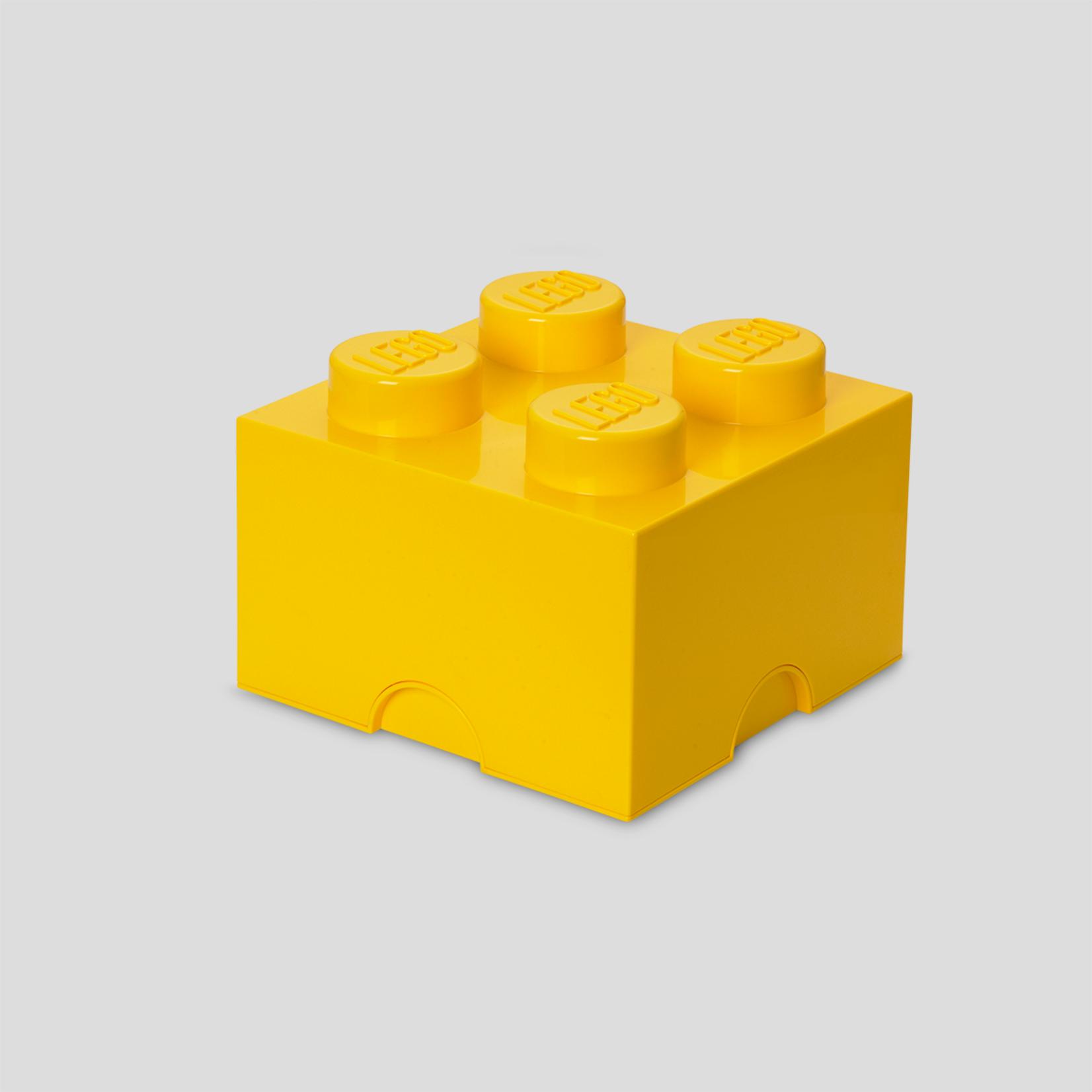 Opbergbox LEGO brick 2x2 geel