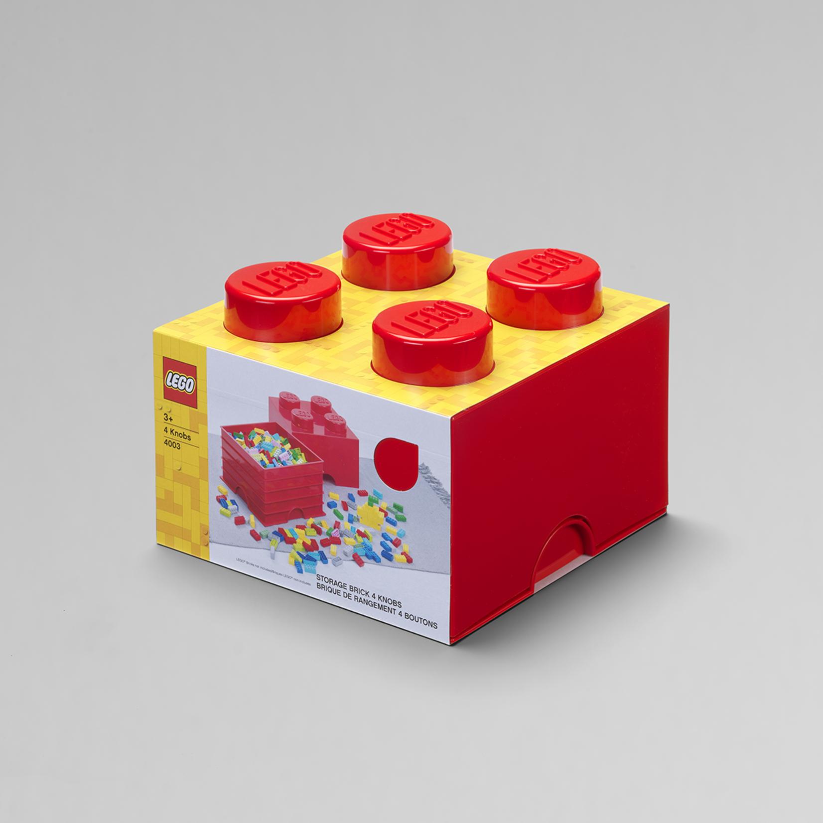 LEGO® Boîte de rangement brique LEGO 2x2 rouge