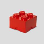 LEGO® Storage box LEGO brick 2x2 red