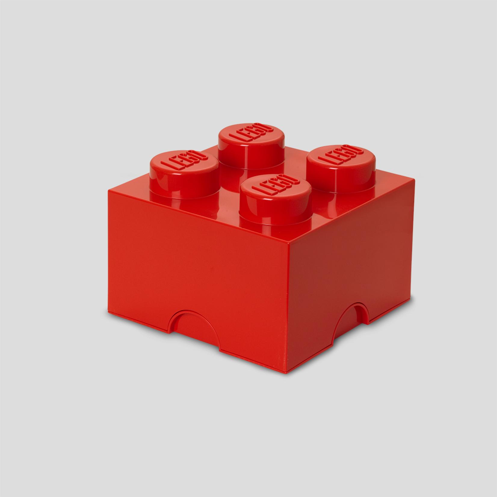 Opbergbox LEGO brick 2x2 rood