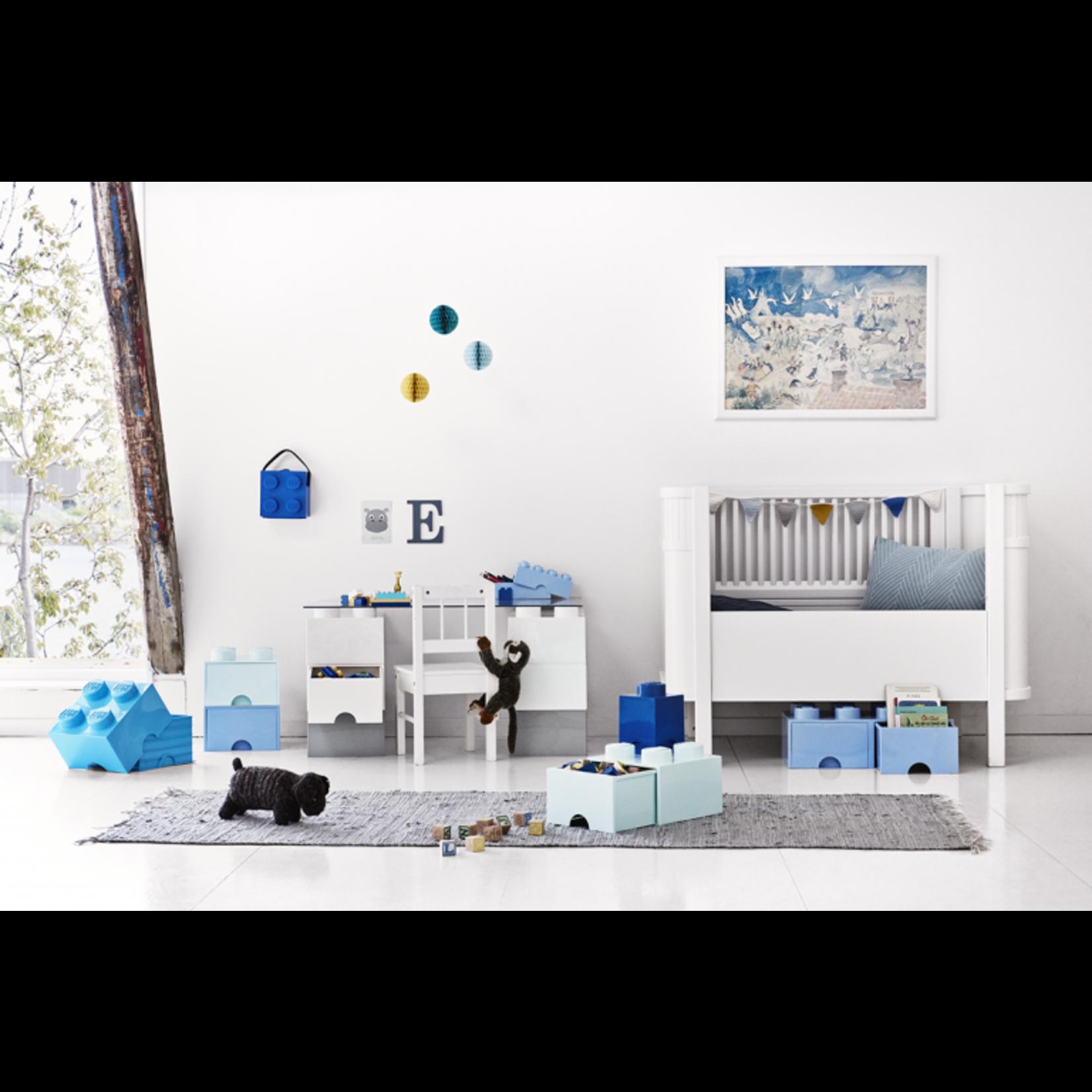 Opbergbox LEGO brick 2x2 blauw