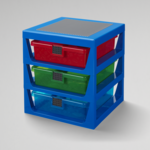 LEGO® LEGO 3-DRAWER STORAGE RACK BLUE
