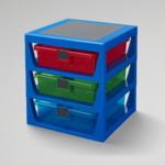 LEGO® RANGEMENT 3 TIROIRS LEGO BLEU