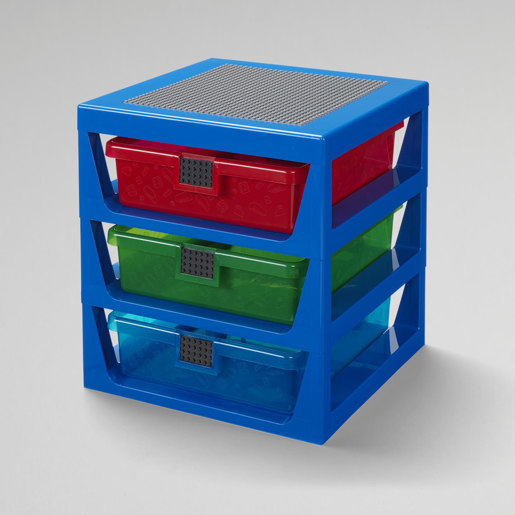 LEGO OPBERGREK MET 3 LADEN BLAUW