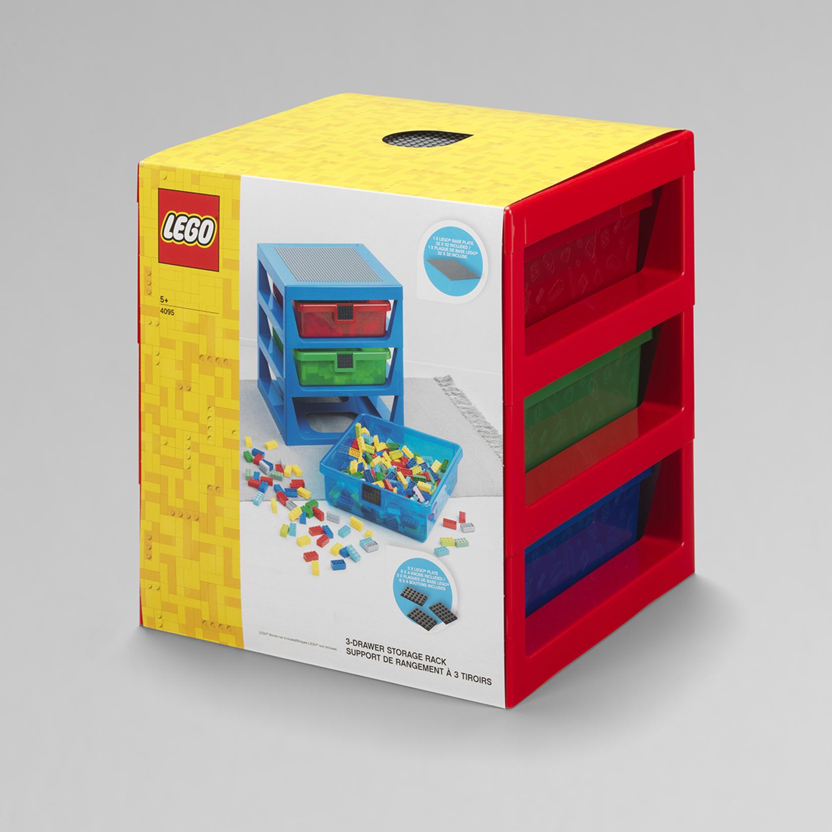 LEGO OPBERGREK MET 3 LADEN ROOD