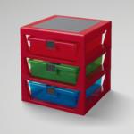 LEGO® RANGEMENT 3 TIROIRS LEGO ROUGE