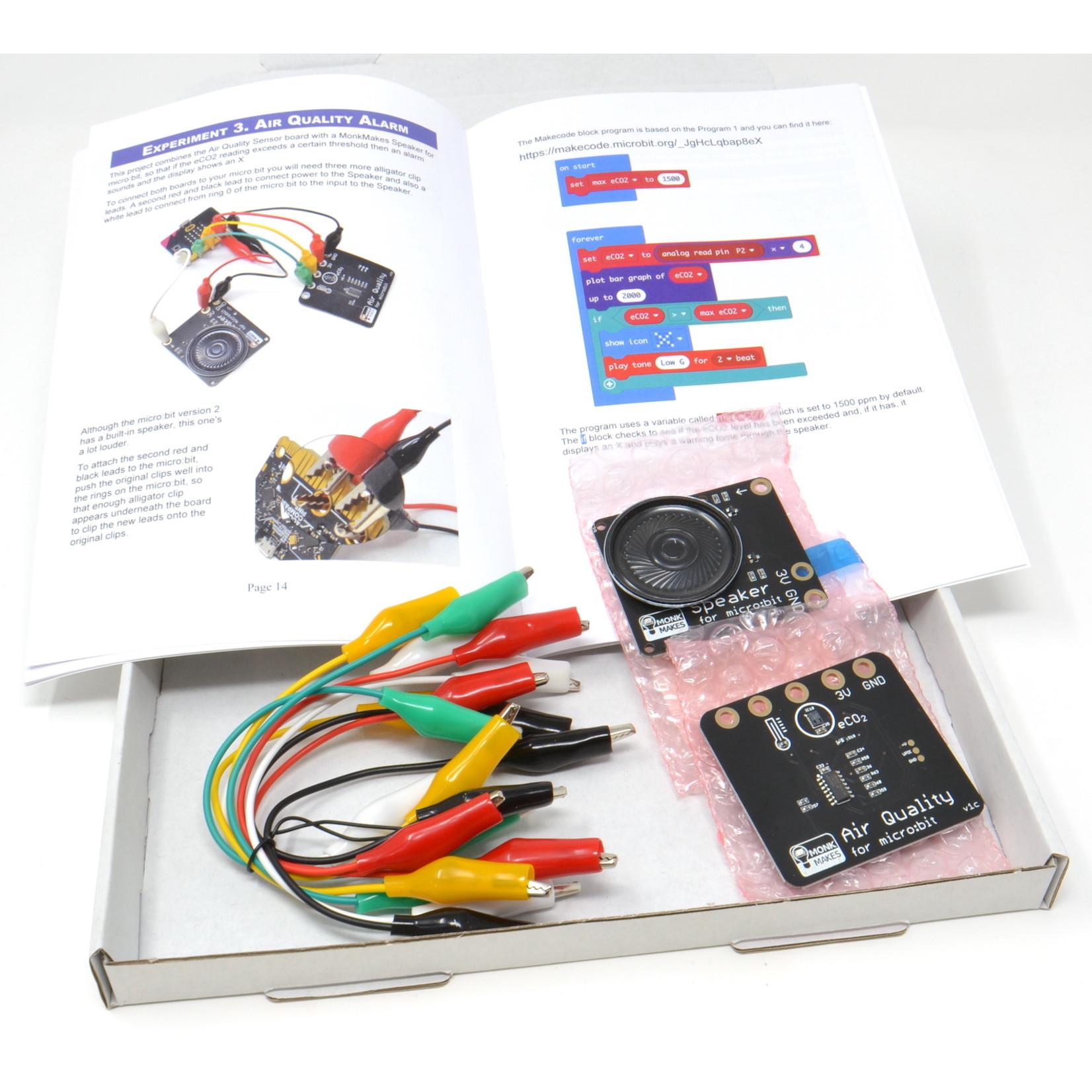 MonkMakes Kit de qualité de l'air pour micro:bit