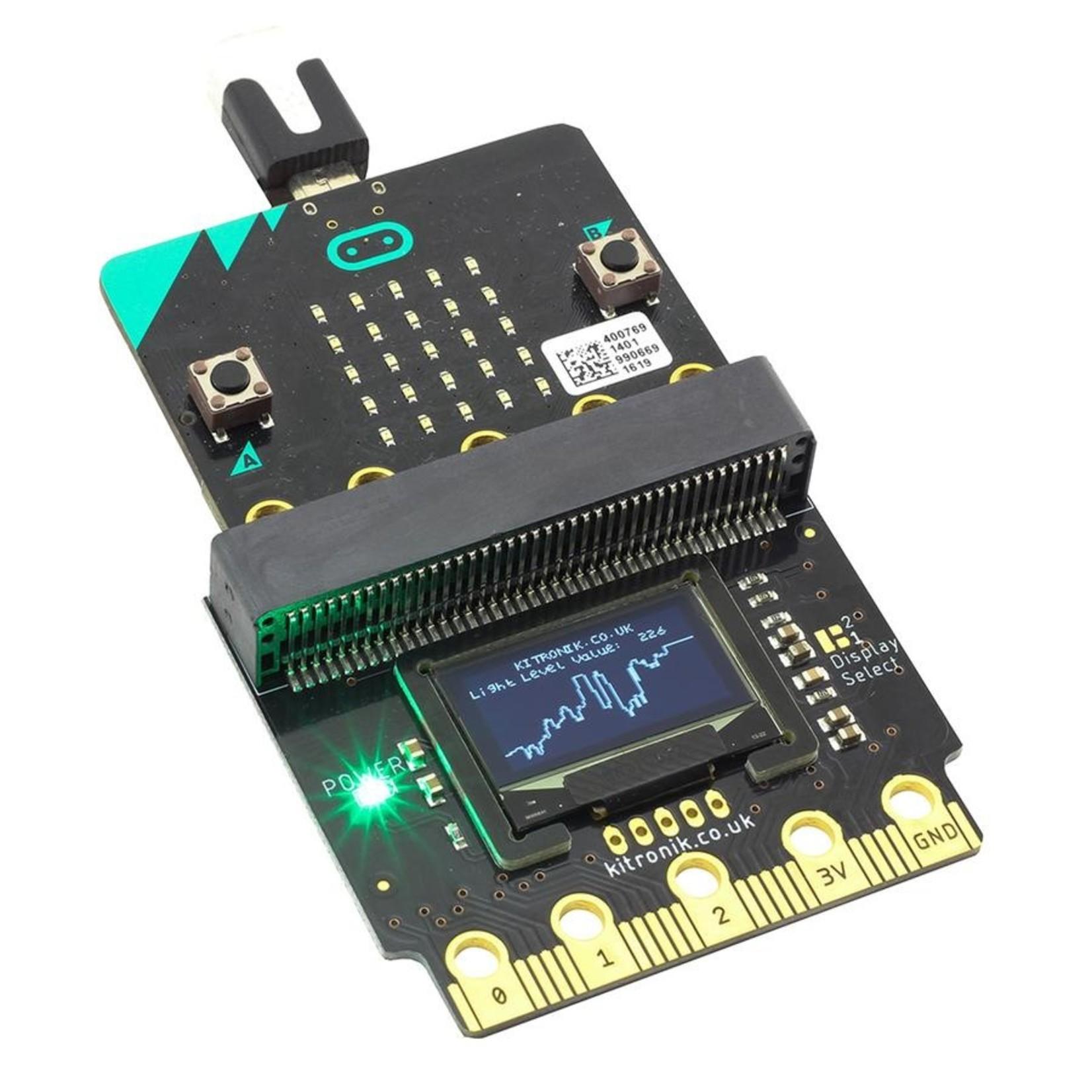 Kitronik :VIEW Graphics128 OLED display 128x64 for BBC micro:bit