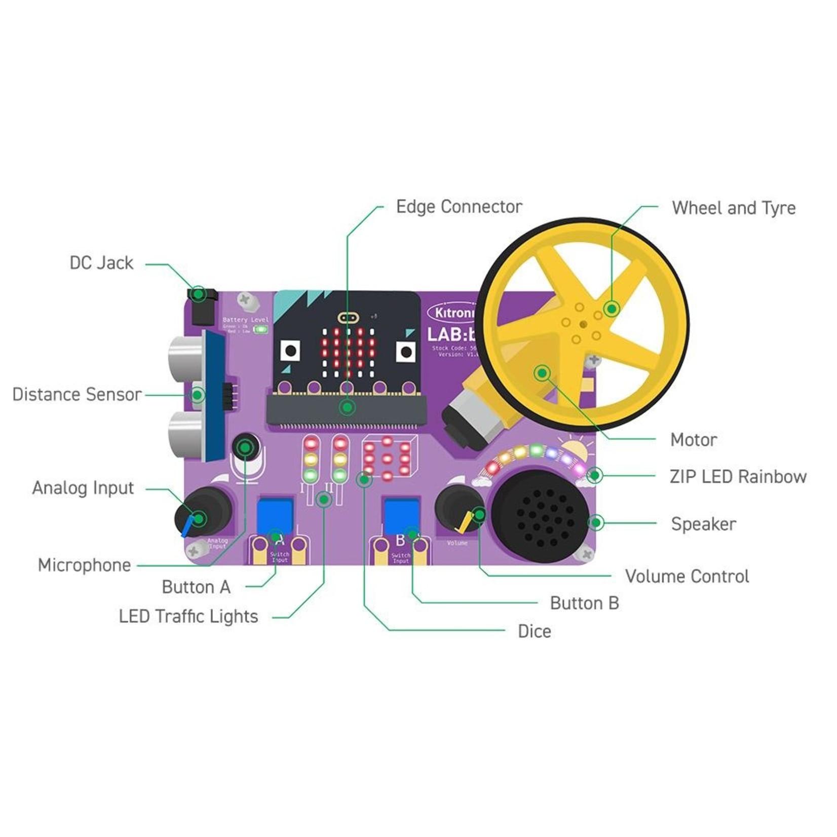 Kitronik LAB:bit educational platform for BBC micro:bit