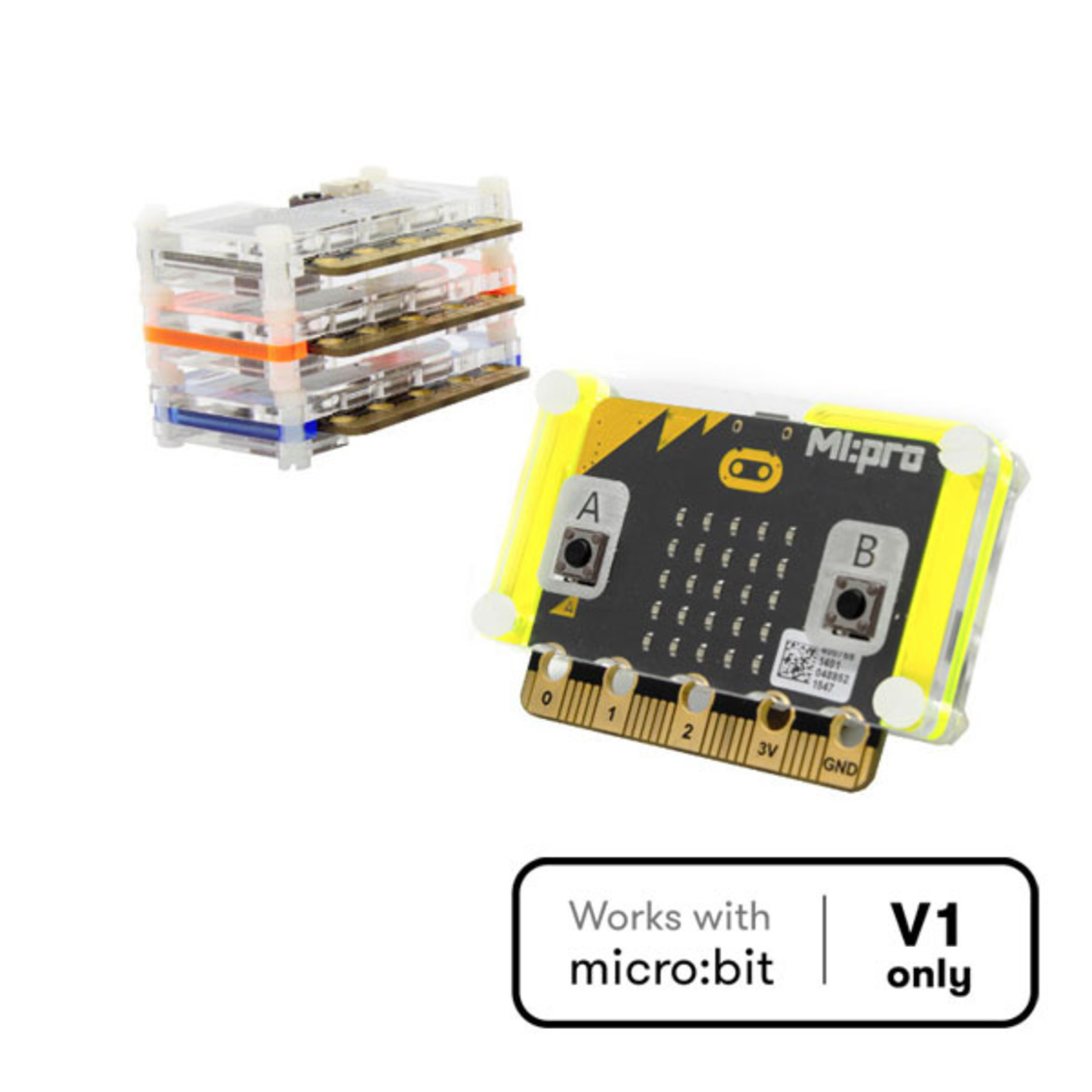 Kitronik MI:pro Protector Case for the BBC micro:bit - Clear
