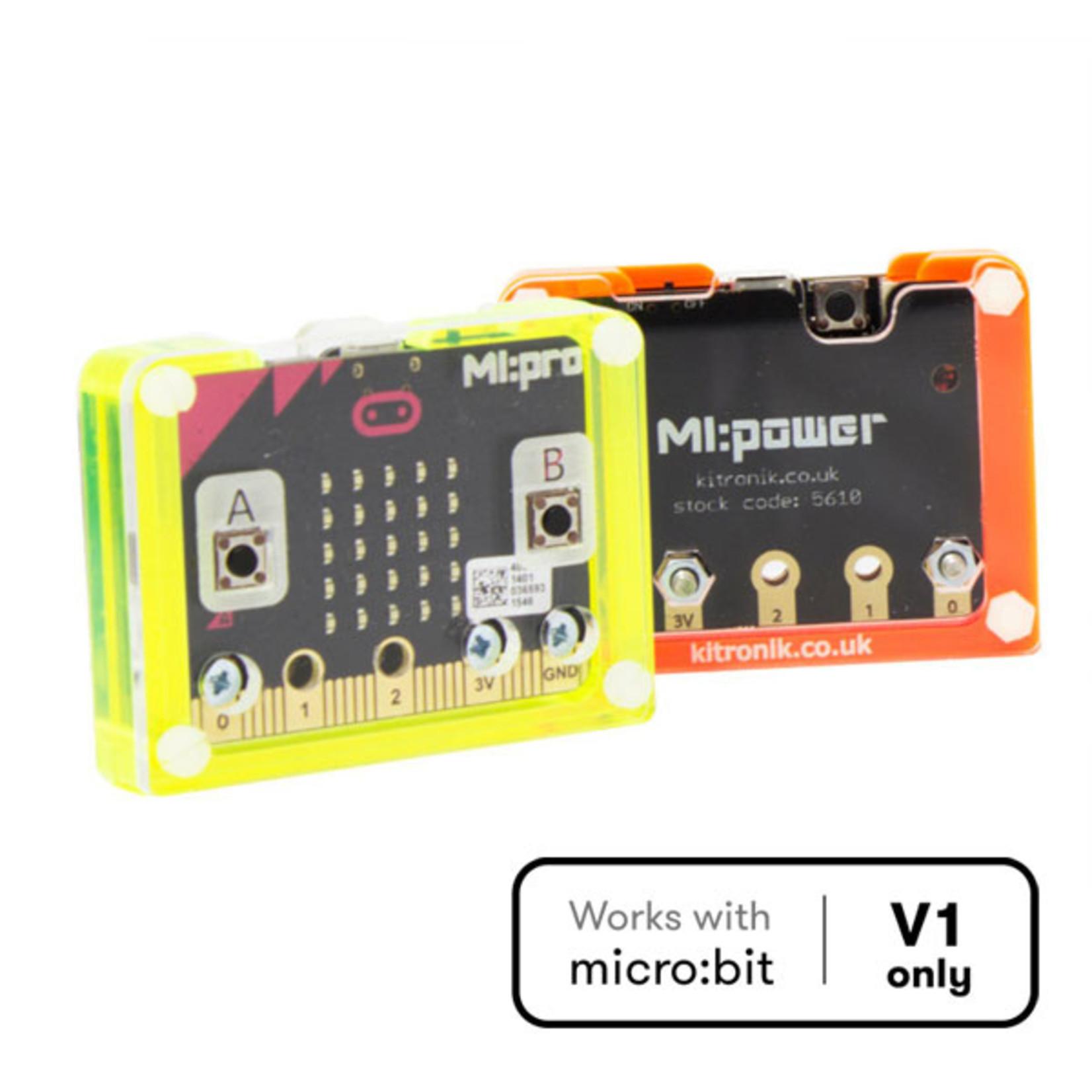 Kitronik MI:power Case for the BBC micro:bit - Blue