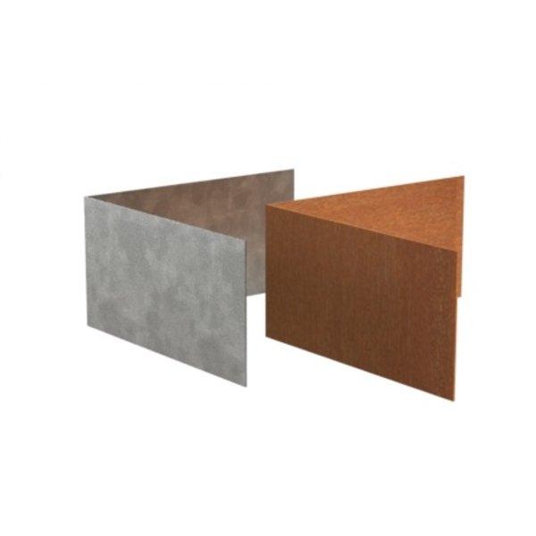 Kantopsluiting hoek recht verzinkt staal