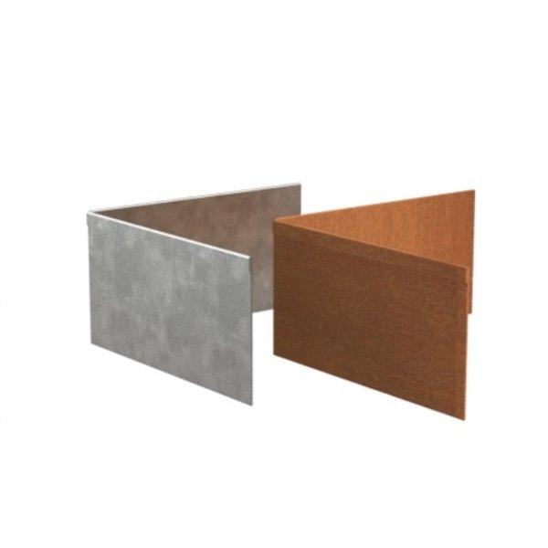 Kantopsluiting hoek geplet verzinkt staal