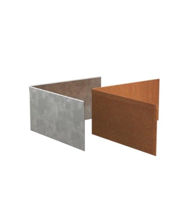 Adezz Kantopsluiting hoek geplet verzinkt staal
