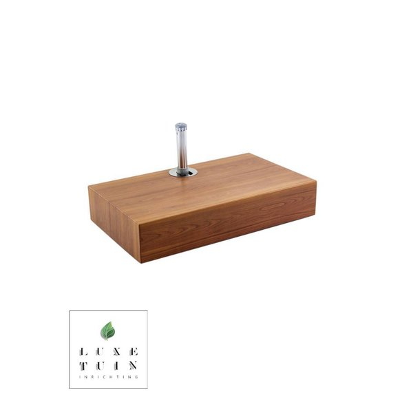 Half aluma-crete cube anchor (with aluma-teak)