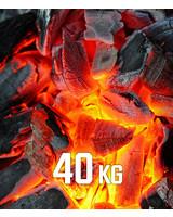 Premium-Grillkohle 40kg BBQKontor Buchenholz-Grillkohle