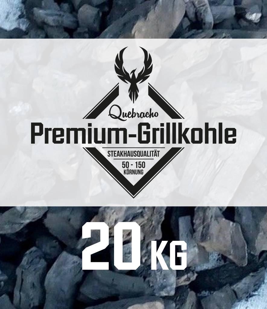 Premium-Grillkohle 20kg Quebracho Premium-Grillkohle