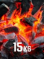 15kg BBQKontor Buchenholz-Grillkohle