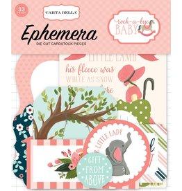 Carta Bella Rock-a-Bye Girl Ephemera von Carta Bella