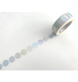 Paper Poetry Washitape Dots irisierend Silber