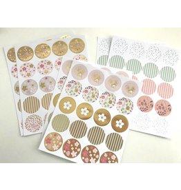 Paper Poetry 120 Stück  Hot Foil Gold Sticker Bouquet