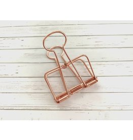 1x Jumbo Wire Clip Rosegold 51mm