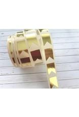 10 Aufkleber  Wimpel  Gold