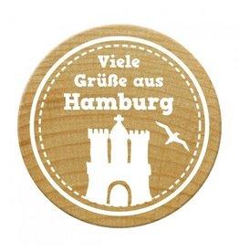 Woodies Woodies Holzstempel Viele Grüße aus Hamburg