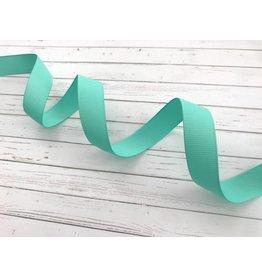 3 Meter Uni Ripsband Türkis 16mm
