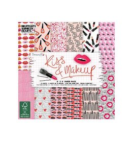 Dovecraft Kiss & Makeup 8x8 Inch Paper Pad