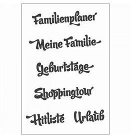Clear Stamp Set  Familienplaner  6 tlg.