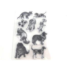 Clear Stamps Set Hunde & Katzen A6