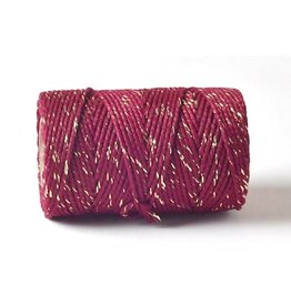 Bakers Twine 100m  Burgunder-Gold