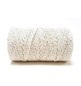 Bakers Twine 100m  Weiß-Gold