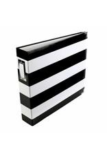 American Crafts Project Life - Album 12x12 black & white stripe