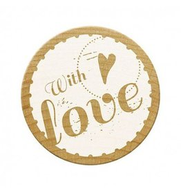Holzstempel  - with Love -