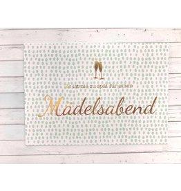 Postkarte mit Goldfolie Mädelsabend