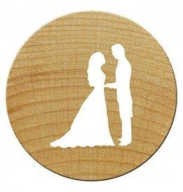 Woodies Mini Woodies Holzstempel Brautpaar