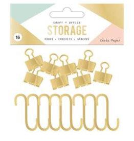 Crate Paper Wire System Haken und Klammern
